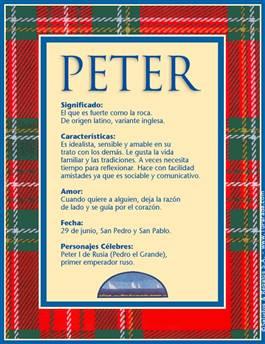 Nombre Peter