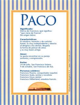 Nombre Paco