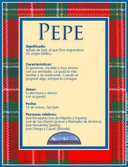Nombre Pepe