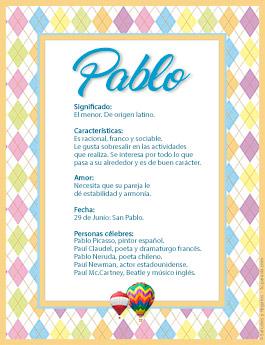 Nombre Pablo