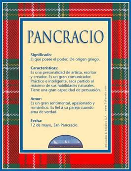 Nombre Pancracio
