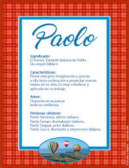 Nombre Paolo