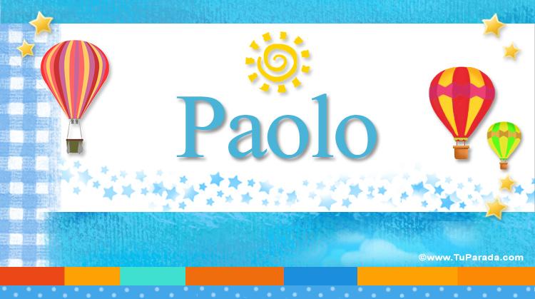 Paolo, imagen de Paolo