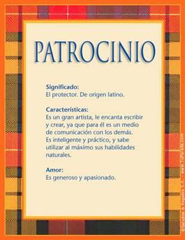Nombre Patrocinio