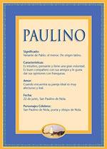 Nombre Paulino