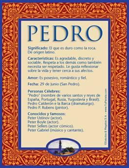 Nombre Pedro