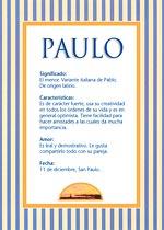 Nombre Paulo