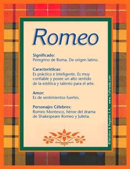 Nombre Romeo