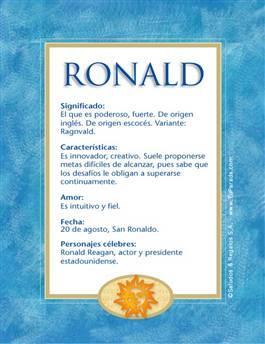 Nombre Ronald