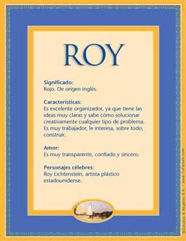 Nombre Roy