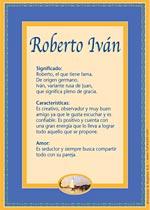 Nombre Roberto Iván