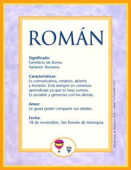 Nombre Román