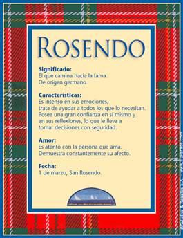 Nombre Rosendo