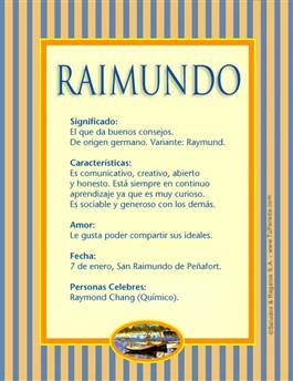 Nombre Raimundo