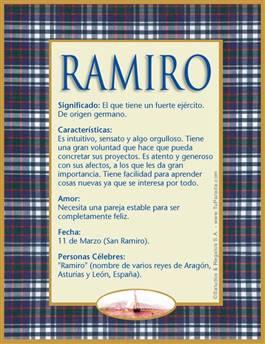 Nombre Ramiro