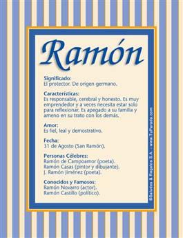 Nombre Ramón