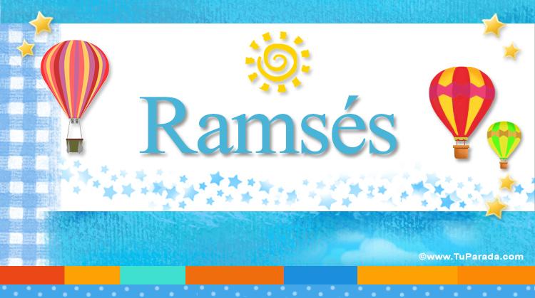Ramsés, imagen de Ramsés