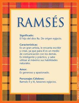 Ramsés Significado Del Nombre Ramsés