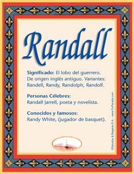 Nombre Randall