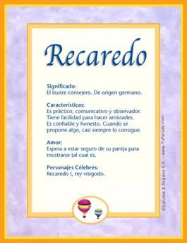 Nombre Recaredo