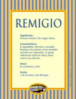 Nombre Remigio