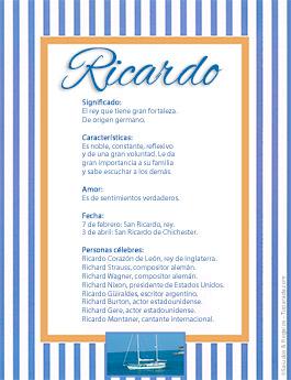 Nombre Ricardo