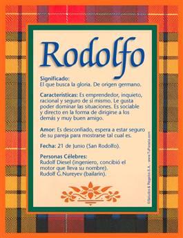Nombre Rodolfo