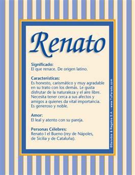 Nombre Renato