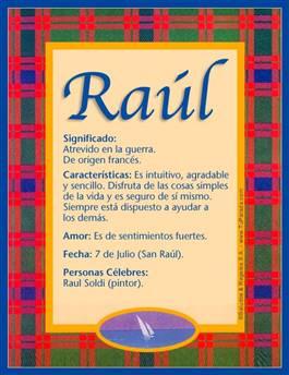 Nombre Raúl