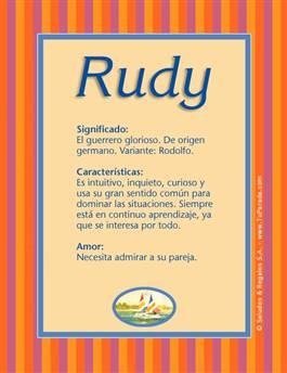 Nombre Rudy