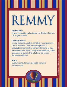 Nombre Remmy