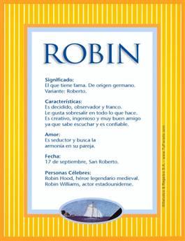 Nombre Robin