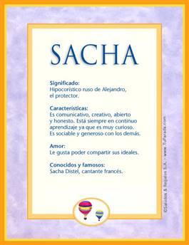 Nombre Sacha