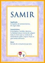 Nombre Samir