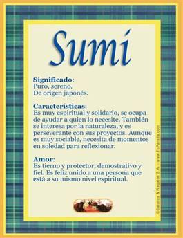 Nombre Sumi