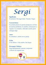 Nombre Sergi