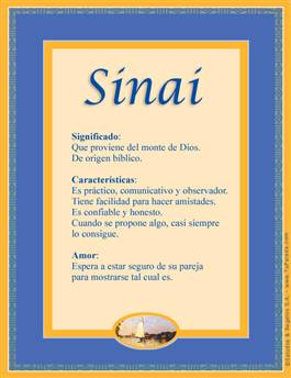 Nombre Sinai