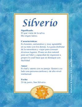 Nombre Silverio