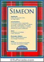 Nombre Simeón