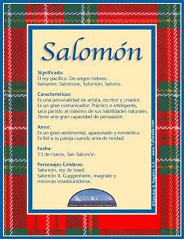 Nombre Salomón