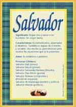 Nombre Salvador