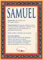 Nombre Samuel