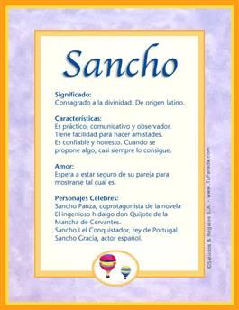 Nombre Sancho
