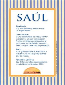 Nombre Saúl
