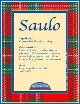 Nombre Saulo