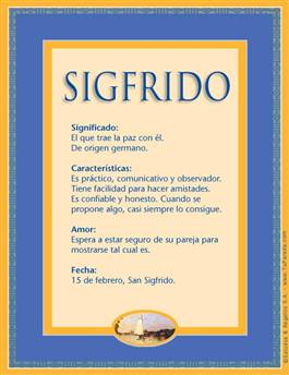 Nombre Sigfrido