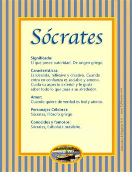 Nombre Sócrates
