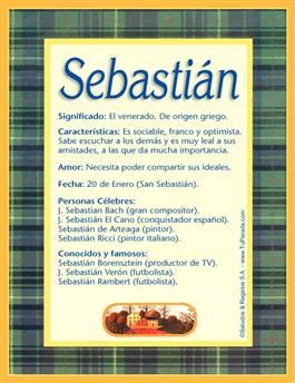 Nombre Sebastián