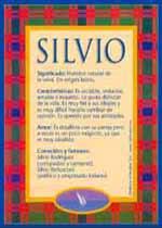 Nombre Silvio