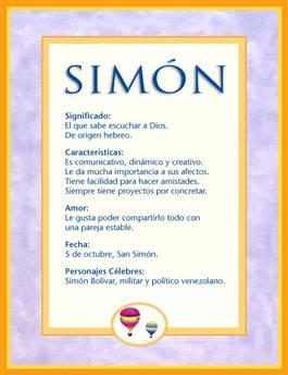 Nombre Simón